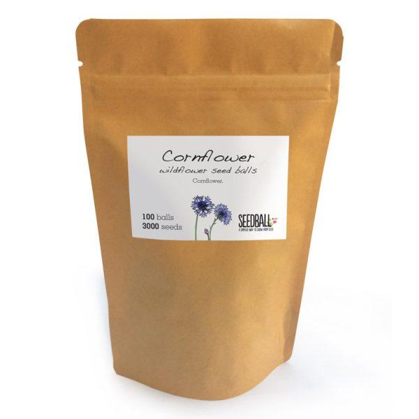 Seedball Cornflower Pouch