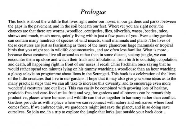The Garden Jungle Prologue