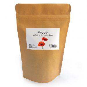 Seedball Poppy Pouch