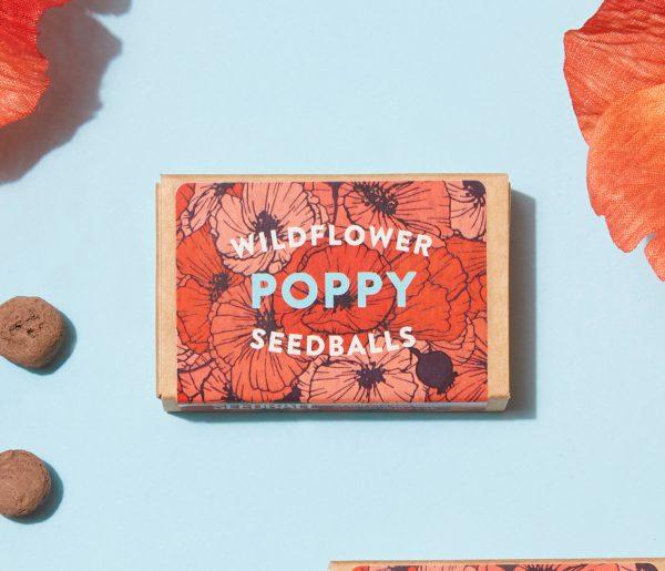 Seedball Poppy Matchbox
