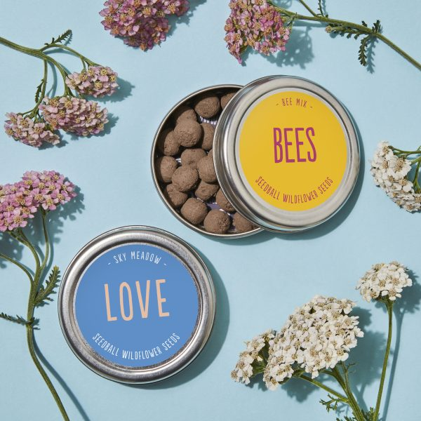 Two Tins on blue Love Bees